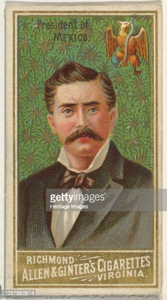 President of Mexico, from World's Sovereigns series for Allen & Ginter Cigarettes, 1889. Artist Allen & Ginter.