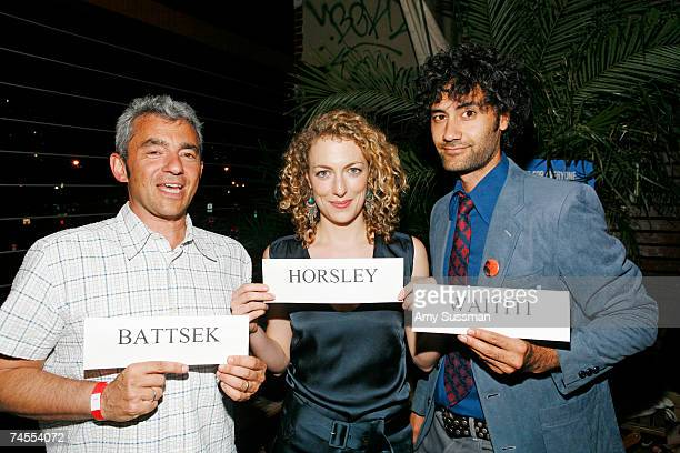 President of Miramax Daniel Battsek actress Loren Horsley and director Taika Waititi attend the after party for the premiere of Eagle vs Shark at The...