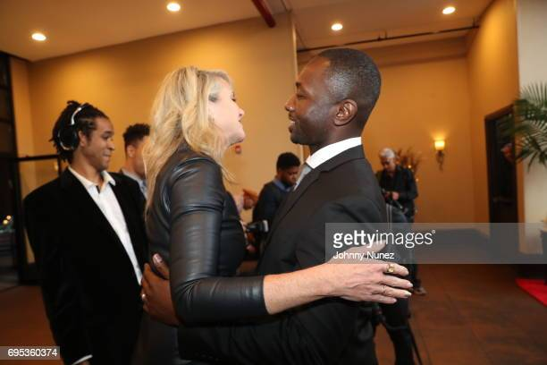 President of Moving Mountains Sarah Hasted and Jamie Hector attend 2017 Moving Mountains Award Presentation on June 6 2017 in New York City