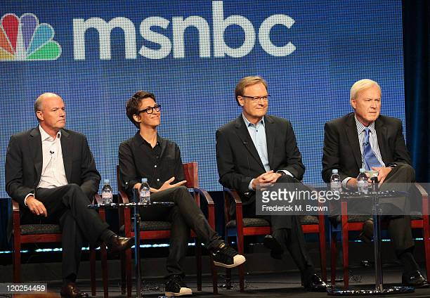 President of MSNBC Phil Griffin, host of 'The Rachel Maddow Show' Rachel Maddow, host of 'The Last Word' Lawrence O' Donnell and host of 'Hardball'...