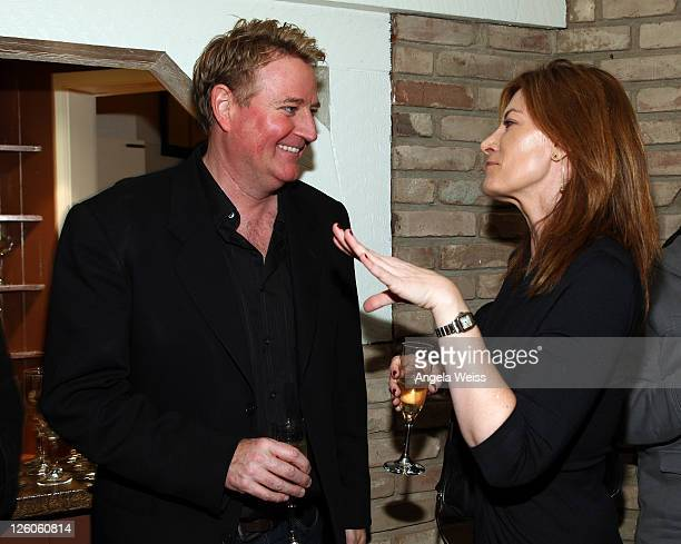 President of music at Paramount Pictures Randy Spendlove and President of Sony Music Entertainment Lia Vollack attend the Friends N Family Dinner at...