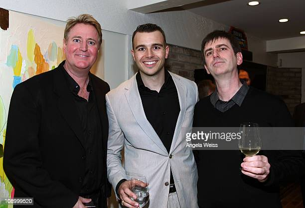 President of music at Paramount Pictures Randy Spendlove producer Charlie Ebersol and CEO of AAM Mark Beaven attend the Friends N Family Dinner at...