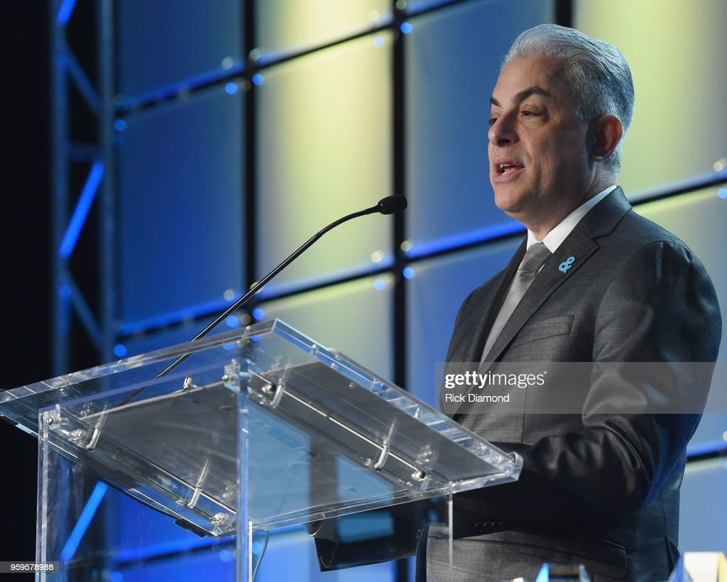 President of Music Business Association, James Donio speaks onstage during the Music Biz 2018 Awards Luncheon for the Music Business Association on May 17, 2018 in Nashville, Tennessee.