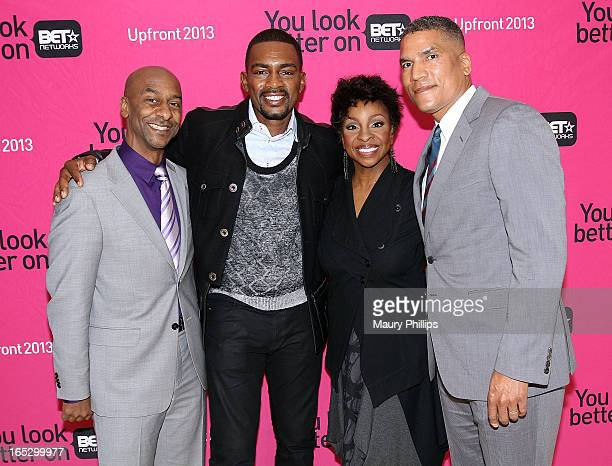 President of Music Programming BET Networks Stephen Hill comedian Bill Bellamy Gladys Knight and General Manager BET Centric Paxton Baker attend BET...