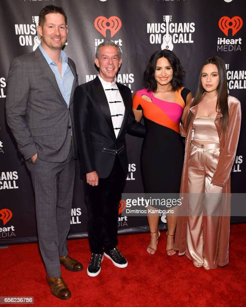 President of Musicians On Call Pete Griffin Radio Personality Elvis Duran Singers Demi Lovato and Bea Miller attend A Night To Celebrate Elvis Duran...