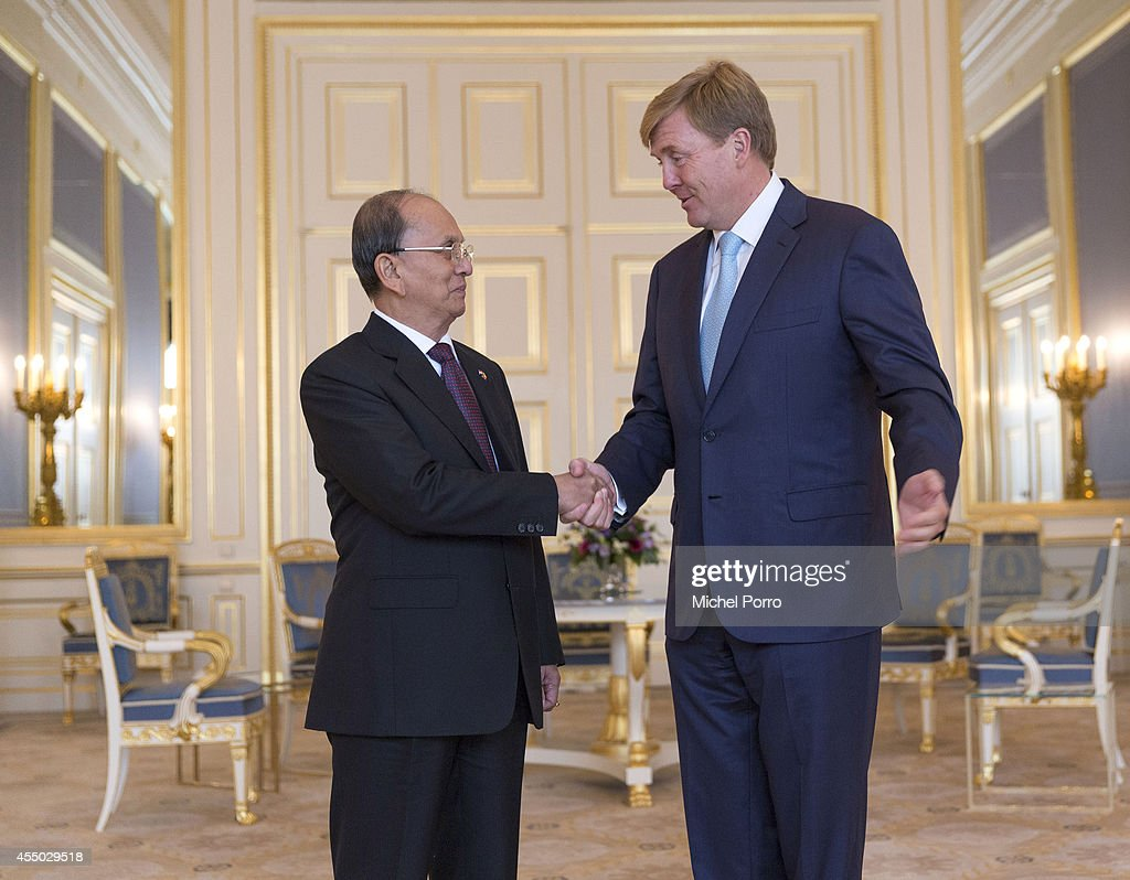 Myanmar President Thein Sein On Two-Day Visit To Holland : News Photo
