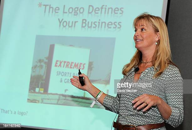 President of Nancy Hadley Fine Art Consulting Nancy Hadley speaks at the 28th annual Nightclub Bar Convention and Trade Show at the Las Vegas...