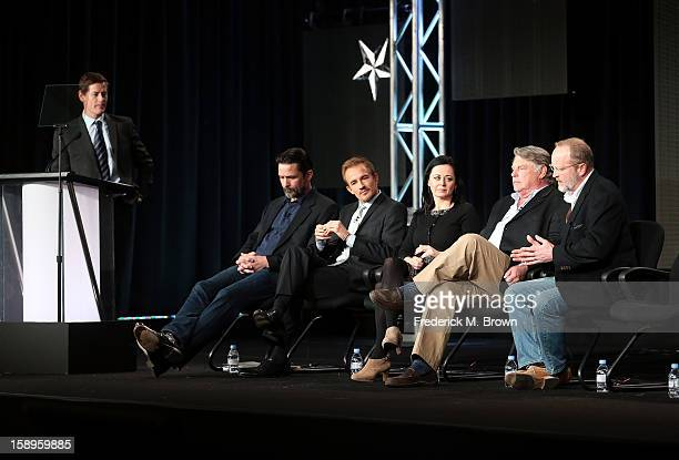 President of National Geographic Channels Howard T Owens actors Billy Campbell Jesse Johnson Geraldine Hughes Graham Beckel and Writer/Producer Erik...