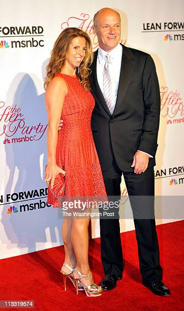 President of NBC Phil Griffin and wife Kory Apton at the MSNBC after party on April 30 2011 in Washington DC