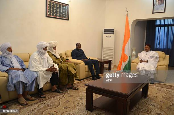 President of Niger Mahamadou Issoufou , Tiebile Drame , special adviser to the Malian president for northern Mali, and a delegation of the High...