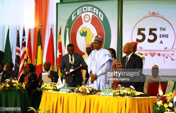 President of Nigeria Muhammadu Buhari chairs the 55th Ordinary Session of the Economic Community of West African States Authority of Heads of State...