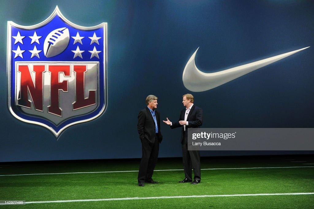 Nike Debuts New NFL Uniforms For 2012 Season : News Photo