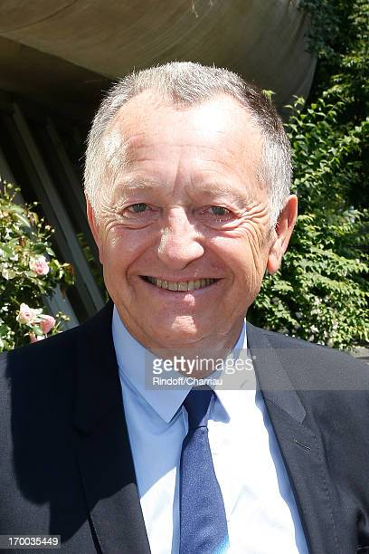 President of Olympique Lyonnais football club JeanMichel Aulas sighting at Roland Garros Tennis French Open 2013 Day 12 on June 6 2013 in Paris France