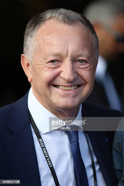 President of Olympique Lyonnais JeanMichel Aulas attends the UEFA Euro 2016 semifinal match between Germany and France at Stade Velodrome on July 7...
