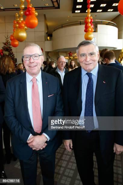 President of ''Opera National de Paris' Bernard Stirn and President of AROP JeanLouis Beffa attend the 32th 'Reve d'Enfants' Charity Gala at Opera...