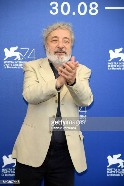 President of 'Orrizzonti' Jury Gianni Amelio attends the Jury photocall during the 74th Venice Film Festival at Sala Casino on August 30 2017 in...