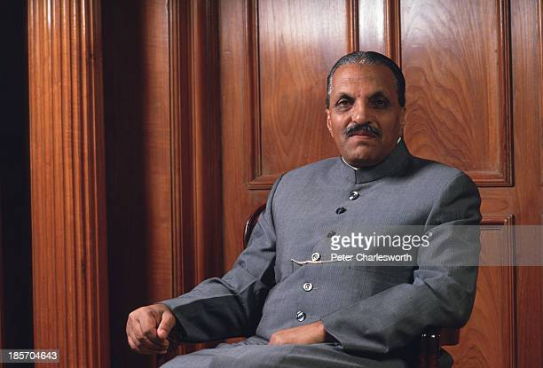 President of Pakistan General Mohammad Zia Al-Haq sits for a portrait at his residence in Murree.