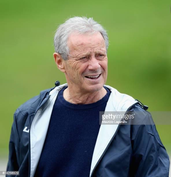 President of Palermo Maurizio Zamparini during a pre-season training camp on July 14, 2017 in Bad Kleinkirchheim, Austria.