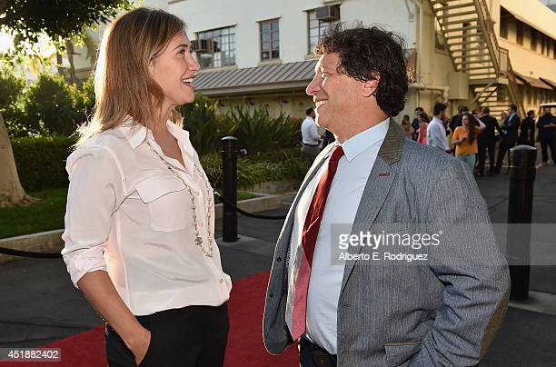 President of Paramount Digital Entertainment Amy Powell and executive producer Jonathan Stern arrive to the premiere of Hulu's 'The Hotwives of...