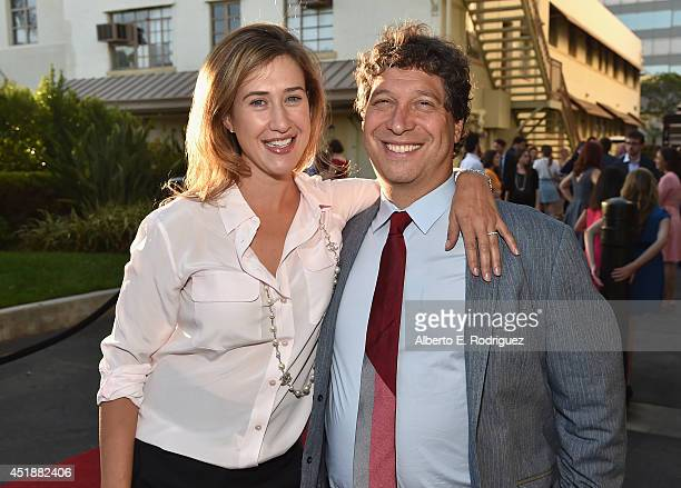 President of Paramount Digital Entertainment Amy Powell and executive producer Jonathan Stern arrive to the premiere of Hulu's The Hotwives of...
