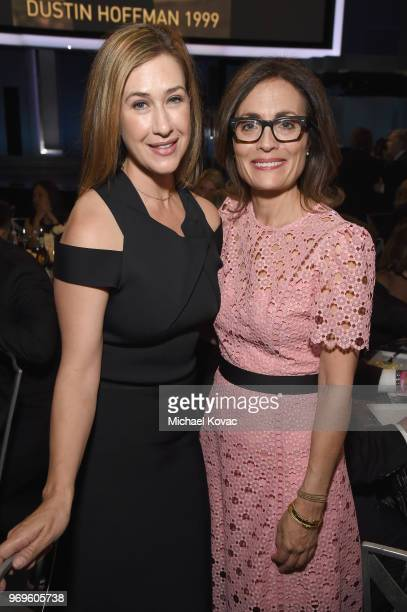 President of Paramount Television Amy Powell and executive vice president of original programming for TNT Sarah Aubrey attend the American Film...