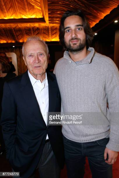 President of Pathe Jerome Seydoux and producer Dimitri Rassam attend the 'Le Brio' movie Premiere at Cinema Gaumont Opera Capucines on November 21...