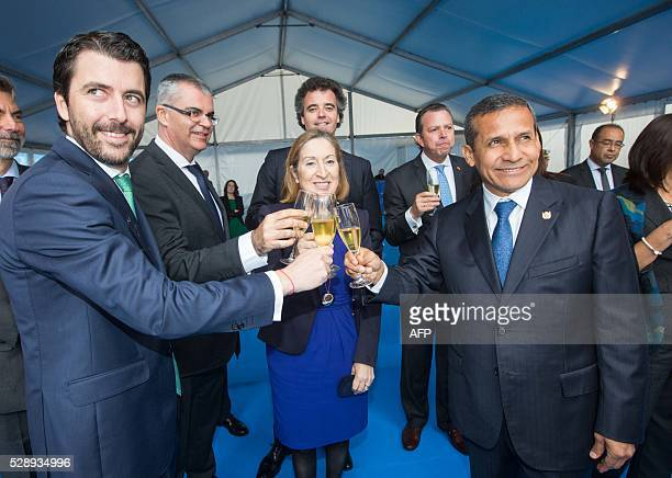 President of Peru Ollanta Humala Spanish minister of public works and transport Ana Pastor Marketing and Commercial Commercial manager of Freire...