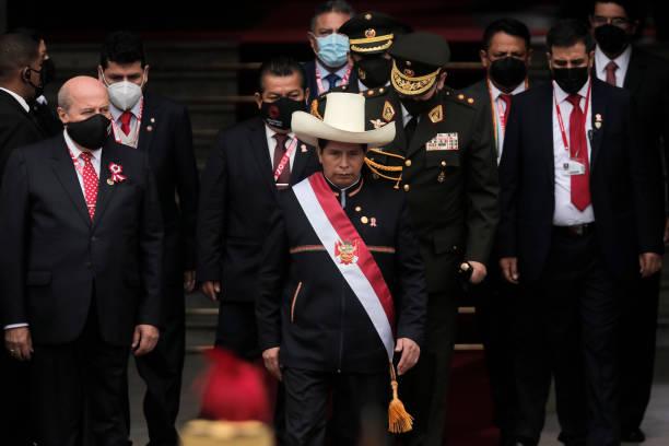PER: Pedro Castillo Takes Office in Peru
