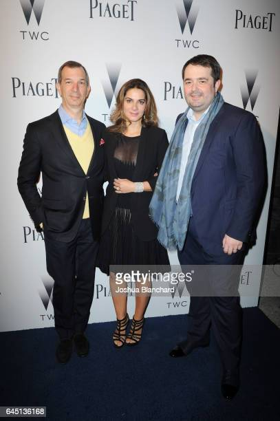 President of Piaget North America Thomas Bouillonnec International Marketing and Communications Director at Piaget Chabi Nouri and Chef JeanFrancois...