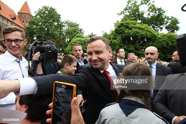 President of Poland Andrzej Duda meets the residents of Kwidzyn Poland 13th June 2016 President came to Kwidzyn to thank voters for election in...