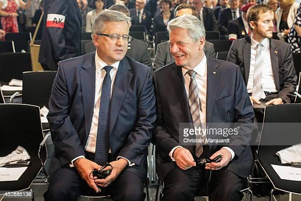 President of Polish Republic Bronislaw Komorowski and German President Joachim Gauck attend the 'Der Warschauer Aufstad 1944 - The Warsaw Uprising'...