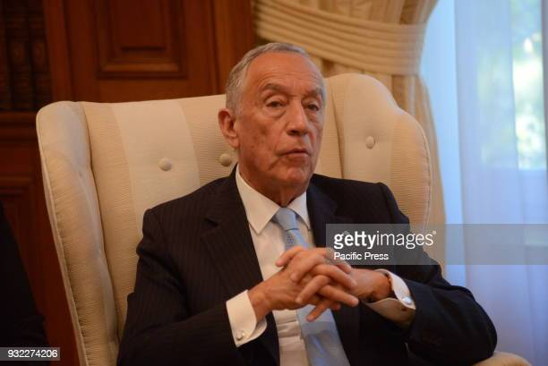 MANSION ATHENS ATTIKI GREECE President of Portugal Marcelo Rebelo de Sousa during the meeting with Greek Prime Minister Alexis Tsipras