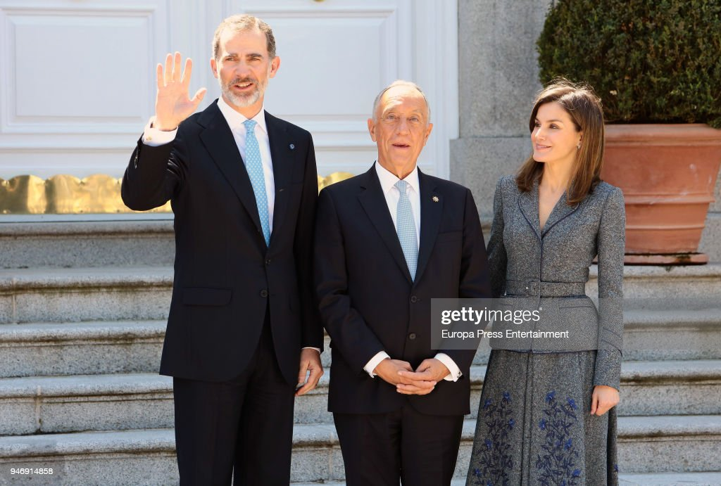 Spanish Royals Host A Lunch For President of Portugal