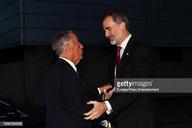 President of Portugal Marcelo Rebelo de Sousa receives Fernandez Latorre Award from the hands of King Felipe of Spain at Santiago Rey...