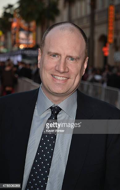President of Production at Marvel Studios Kevin Feige attends the premiere of Marvel's Captain America The Winter Soldier at the El Capitan Theatre...