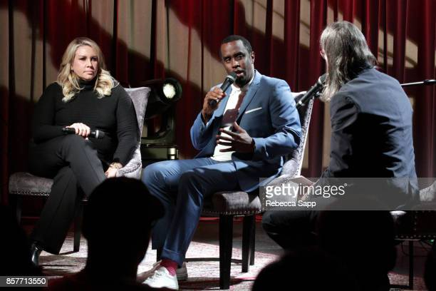 President of Production Film Television for Live Nation Heather Parry and Sean 'Diddy' Combs speak with GRAMMY Museum Executive Director Scott...