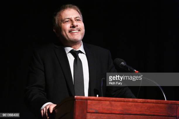 President of Programming Showtime Networks Gary Levine speaks onstage during the premiere of Showtime's 'Patrick Melrose' at Linwood Dunn Theater on...