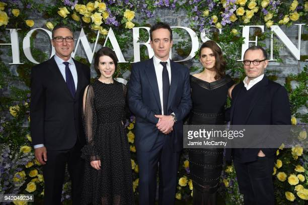 President of Programming Starz Carmi Zlotnik Actors Philippa Coulthard Matthew MacFadyen and Hayley Atwell and Executive Producer Colin Callender...