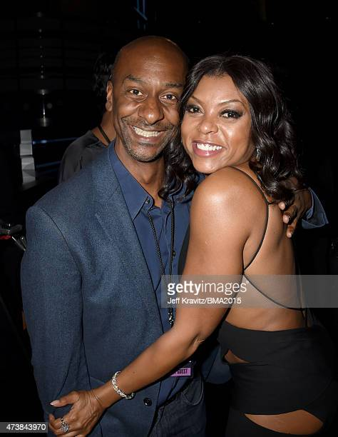 President of Programming Stephen Hill and actress Taraji P Henson attend the 2015 Billboard Music Awards at MGM Grand Garden Arena on May 17 2015 in...