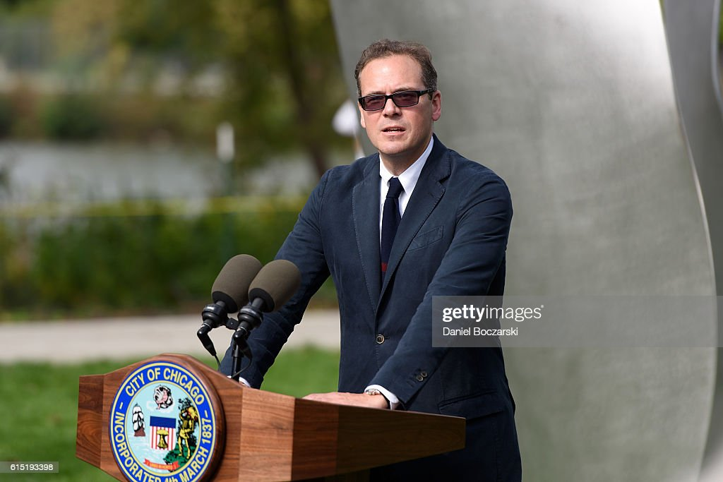 President of Project 120 Robert W. Karr, Jr. attends the Project 120 Skylanding art installation unveiling at Jackson Park on October 17, 2016 in Chicago, Illinois.
