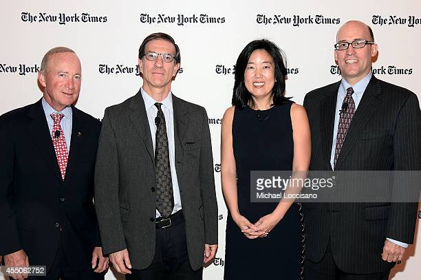 President of Purdue University Mitch Daniels, deputy national editor of The New York Times Ethan Bronner, founder of StudentsFirst Michelle Rhee and...