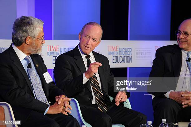 President of Purdue University Mitch Daniels speaks at the TIME Summit On Higher Education Day 1 at Time Warner Center on September 19, 2013 in New...