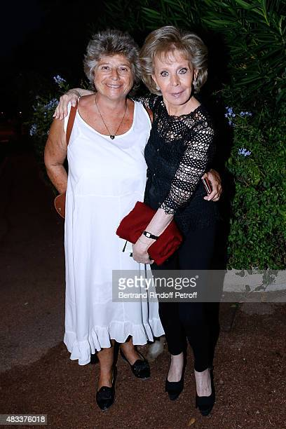 President of Ramatuelle Festival Jacqueline Franjou and Lily Safra attend the 'La colere du Tigre' Theater play during the 31th Ramatuelle Festival...
