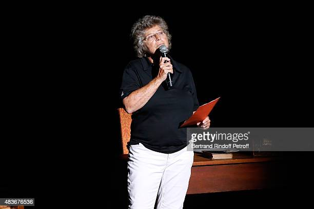 President of Ramatuelle Festival Jacqueline Franjou presents the 'Jofroi' Theater Play during the 31th Ramatuelle Festival : Day 11, on August 11,...