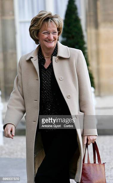 President of rating agency Vigeo Nicole Notat arrives at the Elysee Palace to attend a lunch marking International Womens Day