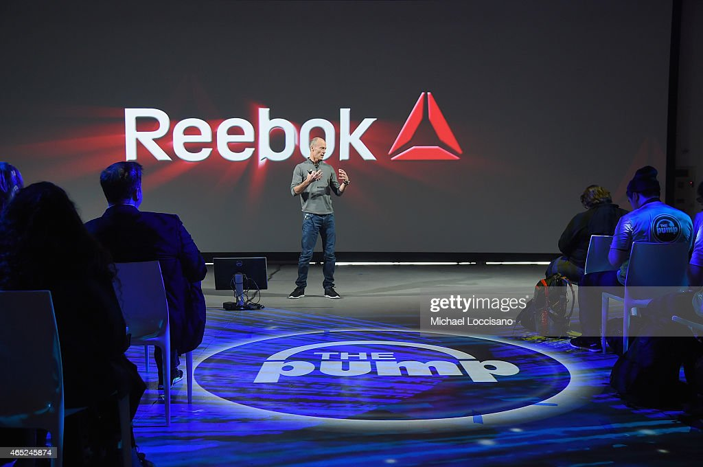 President of Reebok Matt O'Toole speaks during Reebok's launch of the revolutionary new ZPump Fusion at Spring Studios on March 4, 2015 in New York City.