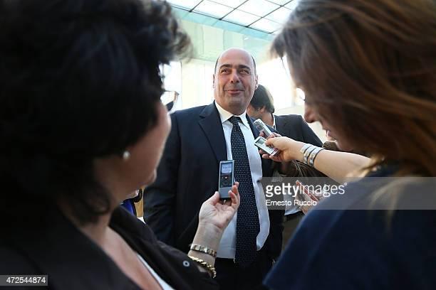 President of Regione Lazio Nicola Zingaretti attends the Fondazione Cinema Per Roma press conference at Palazzo Delle Esposizioni on May 7, 2015 in...