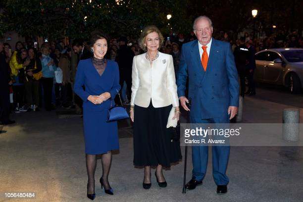 President of 'Reina Sofia' Music School Paloma O'Shea Queen Sofia and King Juan Carlos attend a concert to celebrate Queen Sofia's 80th birthday at...