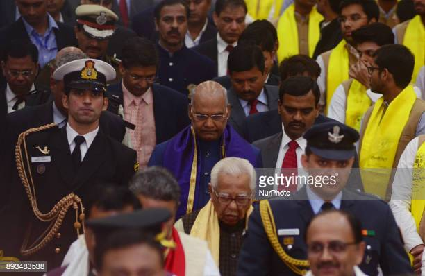 President of republic of India Mr Ram Nath Kovind attends 14th convocation ceremony of MNNIT Allahabad on December 152017