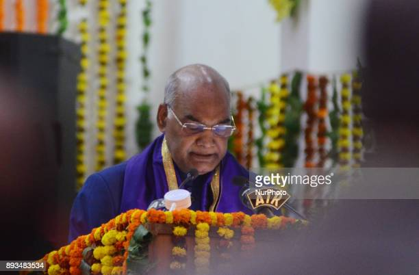 President of republic of India Mr Ram Nath Kovind speaks during 14th convocation ceremony of MNNIT Allahabad on December 152017